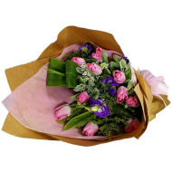 Holland Pink Color Tulips Bouquet