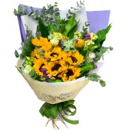 10pcs Sun Flowers Bouquet