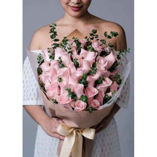 The Pretty Pink Rose Bouquet