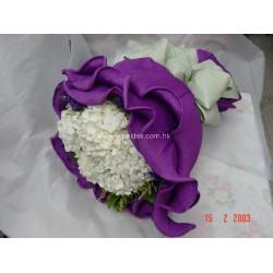 Pure White Hydrangea Round Bouquet